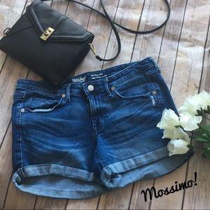 Mossimo denim distressed jean shorts